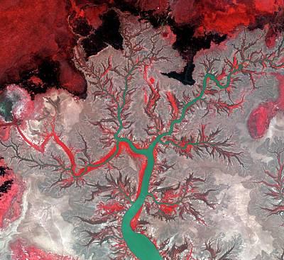 Floodplain Photograph - Kumbunbur Creek by Kari/european Space Agency