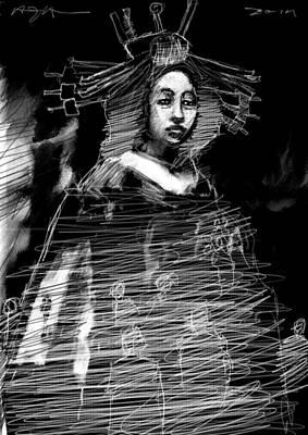 Entertainers Digital Art - Kumiko by H James Hoff