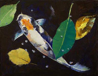 Painting - Kumonryu Koi Art by Michael Creese