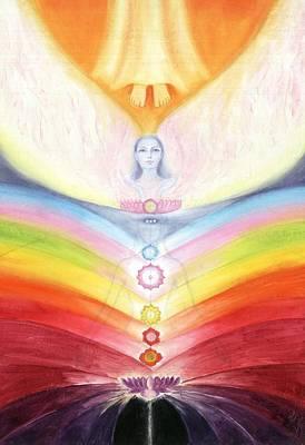 Painting - Kundalini Awakening By The Descent Of The Truth Consciousness by Shiva Vangara