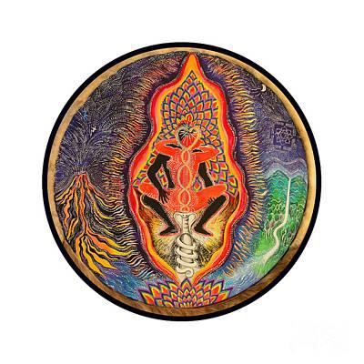 Tantra Painting - Kundalini Tantra by Mukee Okan