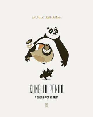 Kung Fu Digital Art - Kung Fu Panda by Smile In The  Mind