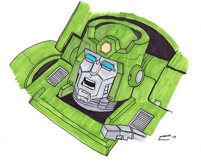 Transformer Drawing - Kup Head by Andrew Miranda