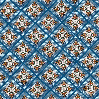 Kurbits Squares Art Print by Leif Sodergren