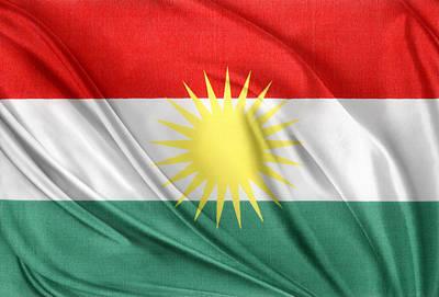 Kurdistan Flag Art Print by Les Cunliffe