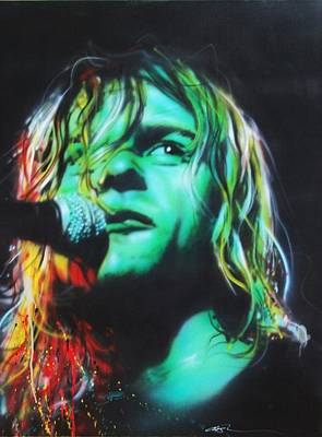 Kurt Cobain Painting - Kurt Cobain - ' Kurdt Kobain ' by Christian Chapman Art