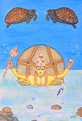 Incarnation Painting - Kurmamurti by Pratyasha Nithin