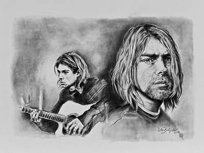 Stratocaster Drawing - Kurt Cobain by Art Imago