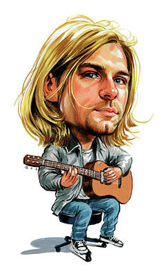 Musicians Royalty Free Images - Kurt Cobain Royalty-Free Image by Art