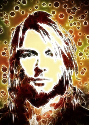 Kurt Cobain Digital Painting Original
