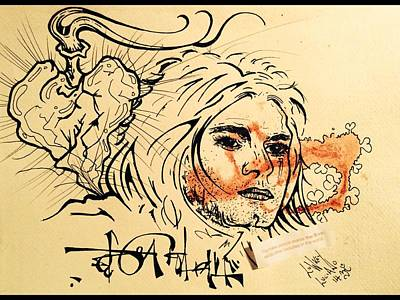 Kurt Cobain Mixed Media - Kurt Cobain  by Lowkey  Luciano