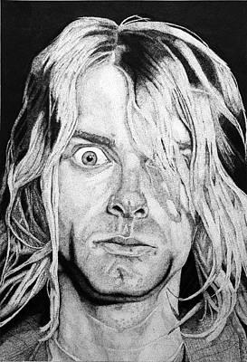 Nirvana Drawing - Kurt Cobain by Luis Fernando Del Aguila Mejia