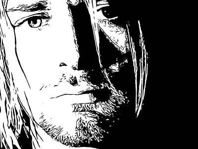 Kurt Cobain Melancholy Art Print