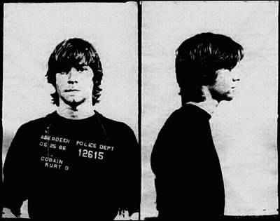 Kurt Cobain Mugshot Art Print by Bill Cannon