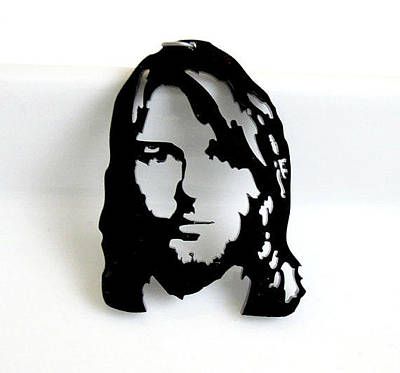 Perspex Jewelry Jewelry - Kurt Cobain Necklace Laser Cut by Rony Bank