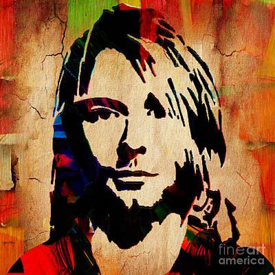 Kurt Cobain Mixed Media - Kurt Cobain Nirvana Collection by Marvin Blaine