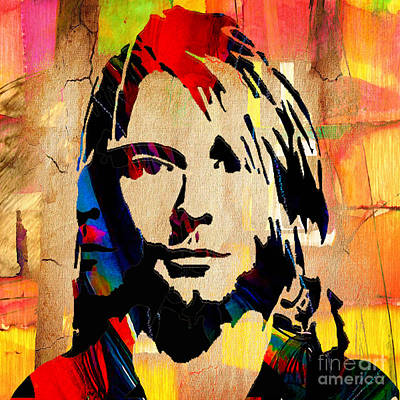 Photograph - Kurt Cobain Nirvana by Marvin Blaine