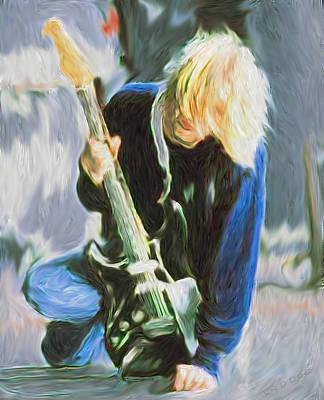 Kurt Cobain Digital Art - Kurt Cobain - Nirvana  by Tyler Watts KyddCo