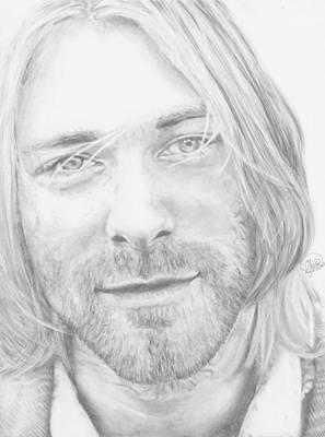 Nirvana Drawing - Kurt Cobain by Olivia Schiermeyer