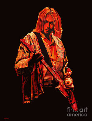Releasing Painting - Kurt Cobain Painting by Paul Meijering