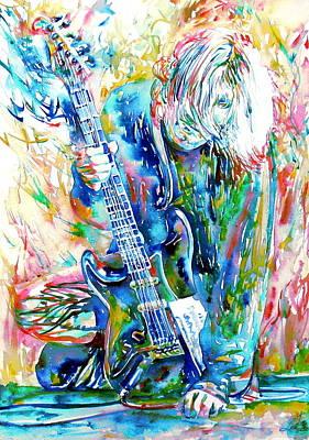 Kurt Cobain Painting - Kurt Cobain Portrait.1 by Fabrizio Cassetta