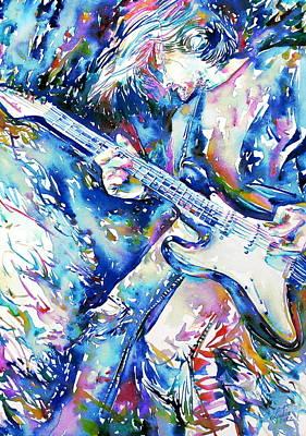 Kurt Cobain Painting - Kurt Cobain Portrait.3 by Fabrizio Cassetta