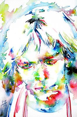Kurt Cobain Painting - Kurt Cobain Portrait.4 by Fabrizio Cassetta