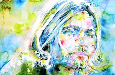 Kurt Cobain Painting - Kurt Cobain Portrait.5 by Fabrizio Cassetta