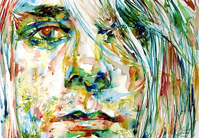 Kurt Cobain Painting - Kurt Cobain Portrait.6 by Fabrizio Cassetta