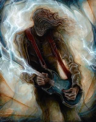 Robert Anderson Painting - Kurt Cobain Zombie by Robert Anderson