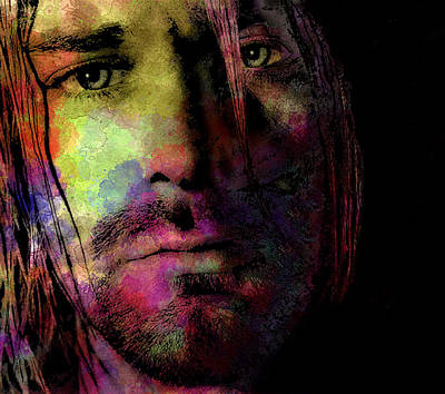 Kurt Cobain Digital Art - Kurt by Daniel Hagerman