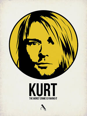Nirvana Digital Art - Kurt Poster 1 by Naxart Studio