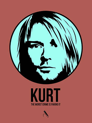 Nirvana Digital Art - Kurt Poster 2 by Naxart Studio