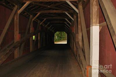 Photograph - Kurtz Mill Covered Bridge by Bob Sample