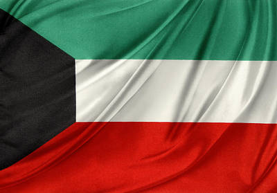 National Symbol Photograph - Kuwait Flag  by Les Cunliffe