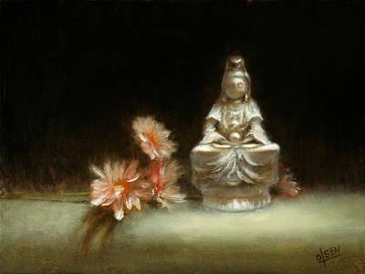 Fine Art Miniatures Painting - Kwan Yin by Christy Olsen