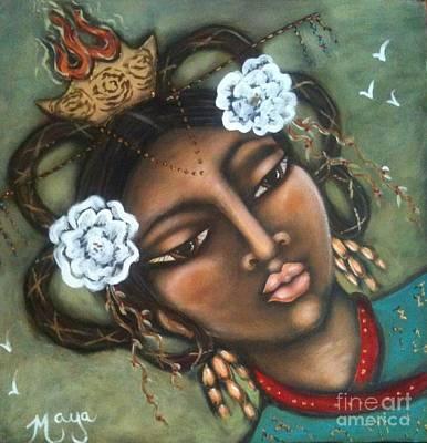 Holy Mother Mixed Media - Kwan Yin by Maya Telford