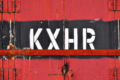 Photograph - Kxhr Train Car by Sharon Popek