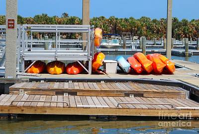 Photograph - Kyack Dock by Jeanne Forsythe