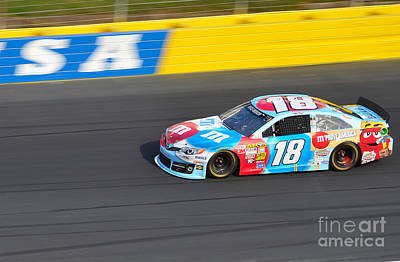 Photograph - Kyle Busch's 18 by Mark Spearman