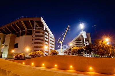 Texas A And M Digital Art - Kyle Field At Night by Linda Unger