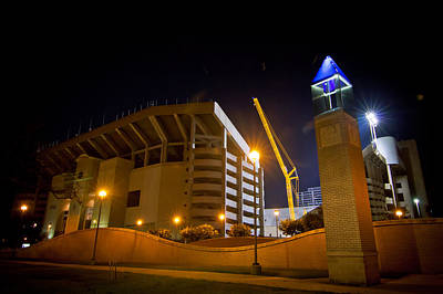 Texas A And M Digital Art - Kyle Field by Linda Unger