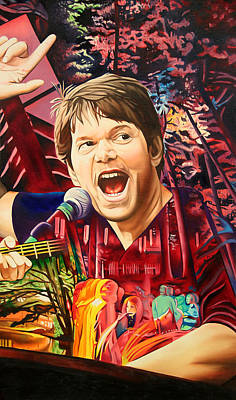 Art Print featuring the painting Kyle Hollingsworth At Hornin'gs Hideout by Joshua Morton