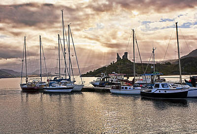 Scotland Photograph - Kyleakin Harbor And Castle Moil by Marcia Colelli
