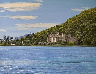 Kylemore Abbey Connemara Co Galway Art Print by Diana Shephard