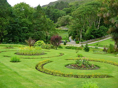 Photograph - Kylemore Abbey Gardens by Denise Mazzocco