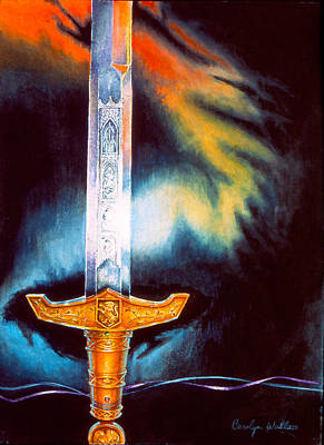 Painting - Kyle's Sword by Carolyn Coffey Wallace