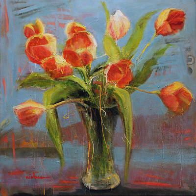 Wall Art - Painting - Kyle's Tulips by Leslie Rock