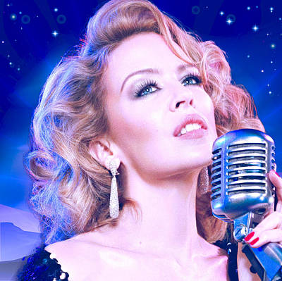Pop Star Photograph - Kylie Minogue In The Stars by Catherine Arnas