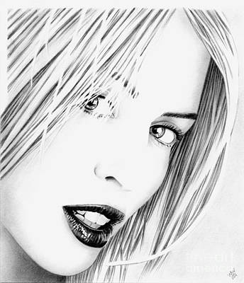 Drawing - Kylie Minogue Portrait by Wu Wei